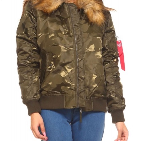 7c67fd4958 Fashion Nova Jackets   Blazers - New Plus Size Fur Camo Bomber Jacket Size  2X